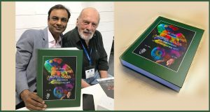 Michel Caza's book 'The Chameleon' was unveiled @ Fespa '18, Berlin