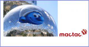 Mactac Europe helps Belgium's landmark Atomium and their beloved Smurfs celebrate their 60th birthday in style
