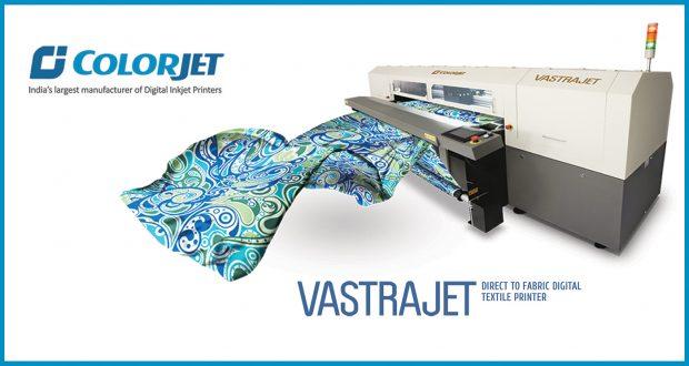 ColorJet displaying its best selling digital textile printer VASTRAJET @ DTG-2019